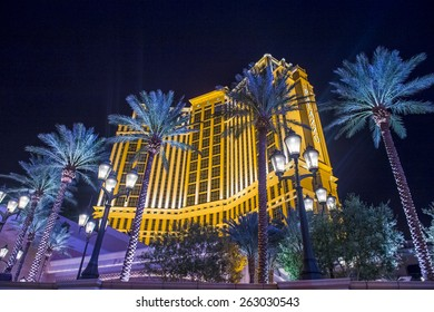 LAS VEGAS - FEB 21 : The Palazzo hotel and Casino in Las Vegas on February 21 2015. Palazzo hotel opened in 2008 and it is the tallest completed building in Las Vegas