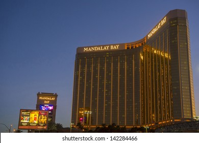 LAS VEGAS - FEBRUARY 14 : Mandalay Bay Resort and Casino on February 14, 2013 in Las Vegas. The resort, which opened in 1999, has 3,309 hotel rooms, 24 elevators and a casino of 135,000 sq ft