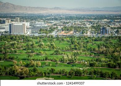 las vegas golf course resort on sunny day
