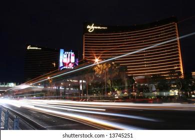 Las Vegas Hotel on the Strip at Night