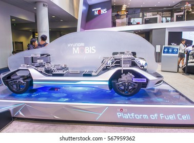 LAS VEGAS - JAN 08 : The Hyundai Mobis Concept car at the CES Show in Las Vegas, Navada, on January 08, 2017. CES is the world's leading consumer-electronics show.