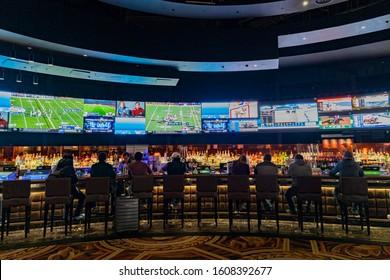 Las Vegas, JAN 1: Interior view of Caesars Palace on JAN 1, 2020, at Las Vegas, Nevada