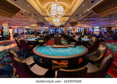 Las Vegas, Jan 11: Interior view of the Bellagio Hotel and Casino on JAN 11, 2020 at Las Vegas, Nevada