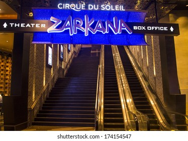 LAS VEGAS - JAN 13 : Zarkana at the Aria hotel in Las Vegas on January 13 2014. Zarkana is a Cirque du Soleil stage production written and directed by Francois Girard.