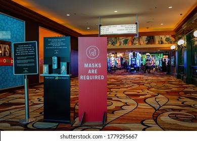 Las Vegas, JUL 17, 2020 - Interior view of the New York New York Hotel & Casino
