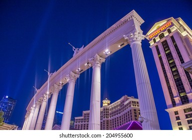 LAS VEGAS - JULY 03 :The Caesars Palace hotel on July 03, 2014 in Las Vegas. Caesars Palace is a luxury hotel and casino located on the Las Vegas Strip. Caesars has 3,348 rooms in five towers