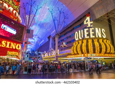 LAS VEGAS - JULY 04 : The Fremont Street Experience on July 04 , 2016 in Las Vegas, Nevada. The Fremont Street Experience is a pedestrian mall and attraction in downtown Las Vegas