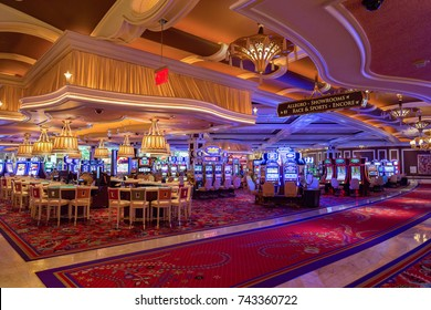 LAS VEGAS - JULY 12 : The interior of Encore Hotel and casino in Las Vegas on July 12 2017. The hotel has 2,716 rooms and opened in 2005.