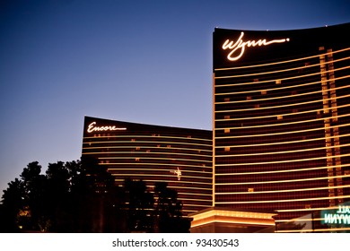 LAS VEGAS - JULY 14: Wynn and Encore Las Vegas Resort and Country Club located on the Las Vegas Strip on July 14, 2011 in Las Vegas. Wynn opened on April 28, 2005 and cost US$2.7 billion to build