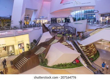 LAS VEGAS - JULY 21 : The Crystals mall in Las Vegas strip on July 21 , 2014. Crystal offers 500,000 sq ft of retail space, including gourmet restaurants, shops and galleries.