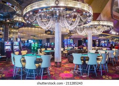 LAS VEGAS - JULY 21 : The Interior of Cosmopolitan hotel and casino on July 21 2014 in Las Vegas. The Cosmopolitan opened in 2010 and it has 2,995 rooms and 75,000 sq ft casino.
