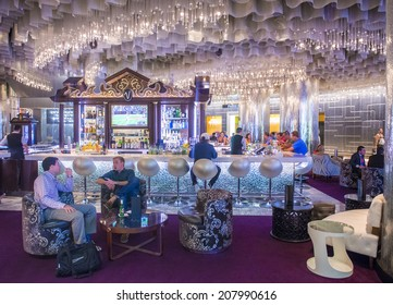 LAS VEGAS - JULY 21 : The lobby of Cosmopolitan hotel and casino on July 21 2014 in Las Vegas. The Cosmopolitan opened in 2010 and it has 2,995 rooms and 75,000 sq ft casino.