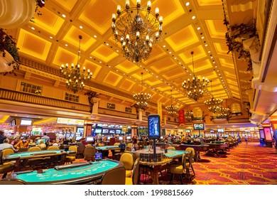 Las Vegas, JUN 5, 2021 - Interior view of Gold Coast Hotel and Casino