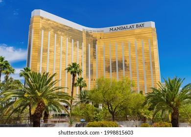 Las Vegas, JUN 9, 2021 - Exterior view of the Mandalay Bay casino