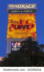 LAS VEGAS - JUNE 05, : The Mirage Hotel on June 05, 2013  in Las Vegas, NV. Sir George Martin and his son Giles created the three-time Grammy-winning soundtrack for the Beatles Love.
