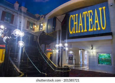 LAS VEGAS - JUNE 17 : The Chateau Night club in Paris hotel in Las Vegas on June 17 2014. The Club have more than 45,000 sq ft on two floors, including a terrace overlooking the strip.