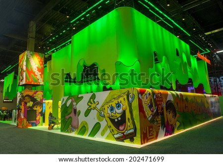 Las Vegas June 17 Nickelodeon Booth Stock Photo Edit Now 202471699