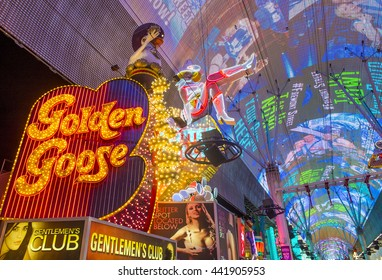 LAS VEGAS - JUNE 18 : The Fremont Street Experience on June 18, 2016 in Las Vegas, Nevada. The Fremont Street Experience is a pedestrian mall and attraction in downtown Las Vegas