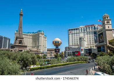 LAS VEGAS - June 18: Paris Las Vegas on June 18, 2009 in Las Vegas. It includes a half scale, 541 ft (164.6 m) replica of Eiffel Tower. Paris cost $785 million to build and opened September 1, 1999.