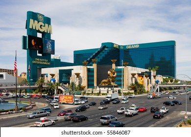 LAS VEGAS - JUNE 3: The MGM Grand Hotel & Casino on June 3, 2010 in Las Vegas, Nevada. The MGM Grand opened on December 18, 1993 and it was the largest hotel in the world when it opened.