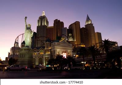 Las Vegas main street Strip at night