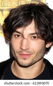 LAS VEGAS - MAR 29:  Ezra Miller at the Warner Bros CinemaCon Photocall at the Caesars Palace on March 29, 2017 in Las Vegas, NV