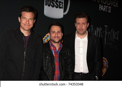 LAS VEGAS - MAR 31: Jason Bateman, Charlie Day, Jason Sudeikis arrive at the Warner Brother Presentation at the CinemaCon Convention at Caesar's Palace on March 31, 2011 in Las Vegas, NV