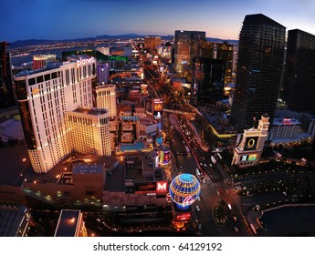 """LAS VEGAS - MAR 4:  Las Vegas Planet Hollywood Hotel, the first Las Vegas resort to offer table games dealt by young ladies in """"chic lingerie"""", on strip on March 4, 2010 in Las Vegas, Nevada."""