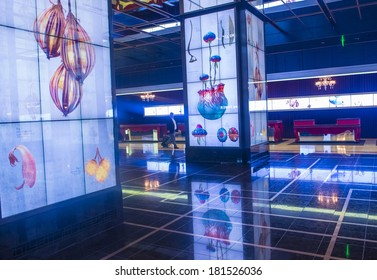LAS VEGAS - MARCH 10 : The Interior of Cosmopolitan hotel and casino on March 10 2014 in Las Vegas. The Cosmopolitan opened in 2010 and it has 2,995 rooms and 75,000 sq ft casino.