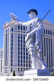 LAS VEGAS - MARCH 25: A dressed-up statue of David at the CinemaCon, the official convention of the National Association of Theatre Owners, at Caesars Palace on March 25, 2014 in Las Vegas , Nevada