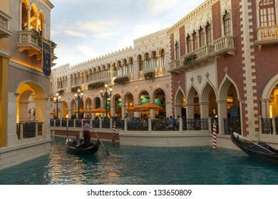 LAS VEGAS - MARCH 30:The shoppes at Palazzo on MARCH 30, 2013  in Las Vegas. The mall is 500,000 sq ft (46,000 m���²) Barneys New York takes up 85,000 sq ft of that.