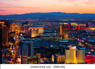 LAS VEGAS - MARCH 31: An aerial view of Las Vegas in shown in this image taken on March 31, 2009 in Las Vegas.
