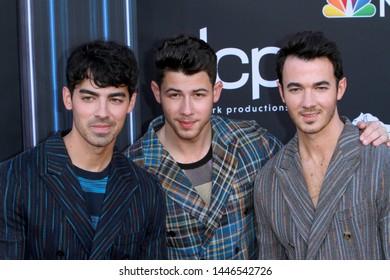 LAS VEGAS - MAY 1:  Joe Jonas, Nick Jonas, Kevin Jonas, Jonas Brothers at the 2019 Billboard Music Awards at MGM Grand Garden Arena on May 1, 2019 in Las Vegas, NV
