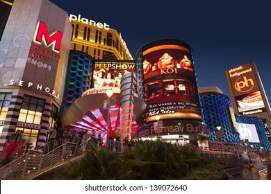 LAS VEGAS - MAY 18, 2013 - Planet Hollywood on May 18, 2013  in Las Vegas. On January 16, 2010, Starwood Hotels & Resorts dropped their affiliation so Caesars could take over hotel operations.