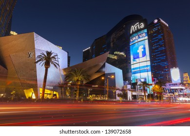 LAS VEGAS - MAY 18, 2013 - Aria Hotel on May 18, 2013  in Las Vegas. At 4,000,000 sq ft and 600 ft in height, Aria is the largest and tallest structure at CityCenter.