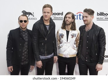 LAS VEGAS - MAY 18 : Rock band Imagine Dragons attend the 2014 Billboard Music Awards at the MGM Grand Garden Arena on May 18 , 2014 in Las Vegas.