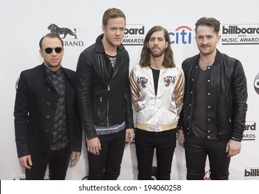 LAS VEGAS - MAY 18 : Rock band Imagine Dragons attends the 2014 Billboard Music Awards at the MGM Grand Garden Arena on May 18 , 2014 in Las Vegas.