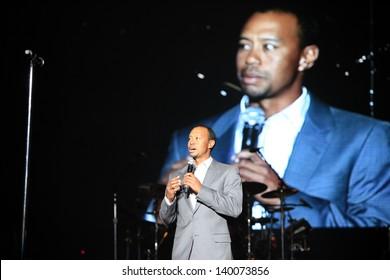 LAS VEGAS - MAY 18:  Tiger Woods at Tiger Jam 2013 at the Mandalay Bay Events Center on May 18, 2013 in Las Vegas, NV.