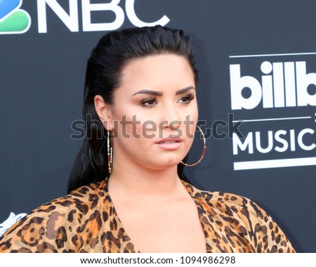 LAS VEGAS - MAY 20:  Demi Lovato at the 2018 Billboard Music Awards at MGM Grand Garden Arena on May 20, 2018 in Las Vegas, NV