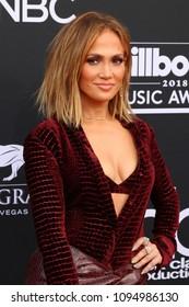 LAS VEGAS - MAY 20:  Jennifer Lopez at the 2018 Billboard Music Awards at MGM Grand Garden Arena on May 20, 2018 in Las Vegas, NV