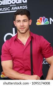 LAS VEGAS - MAY 20:  Nick Jonas at the 2018 Billboard Music Awards at MGM Grand Garden Arena on May 20, 2018 in Las Vegas, NV