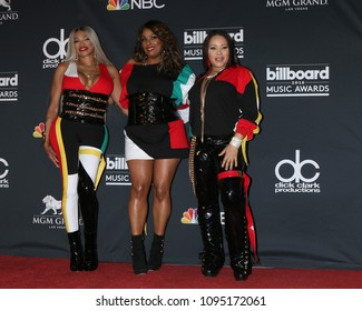 LAS VEGAS - MAY 20:  Sandra Denton, DJ Spinderella, Cheryl James, Salt-N-Pepa at the 2018 Billboard Music Awards at MGM Grand Garden Arena on May 20, 2018 in Las Vegas, NV