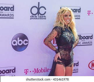 LAS VEGAS - MAY 22 : Singer Britney Spears attends the 2016 Billboard Music Awards at T-Mobile Arena on May 22, 2016 in Las Vegas, Nevada.