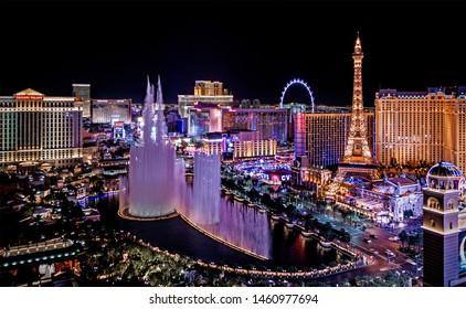 Las Vegas Nevada 2017 02 13 panoramic view of the Las Vegas Strip
