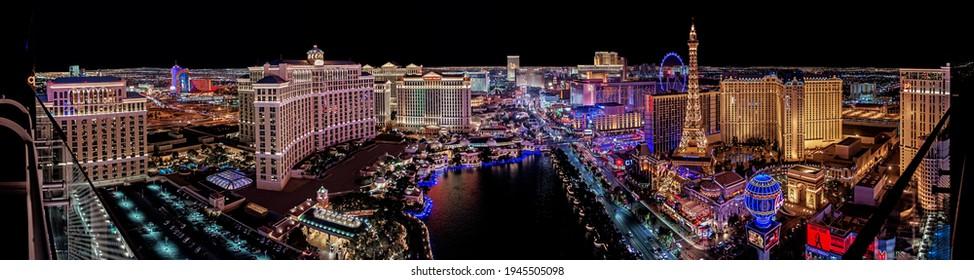Las Vegas Nevada 2017 12 01 panoramic view of the Las Vegas Strip