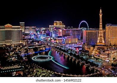 Las Vegas Nevada 2018 02 07 panoramic view of the Las Vegas Strip
