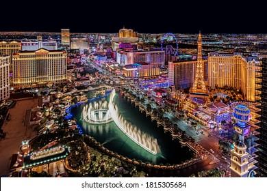 Las Vegas Nevada 2018 04 25 panoramic view of the Las Vegas Strip