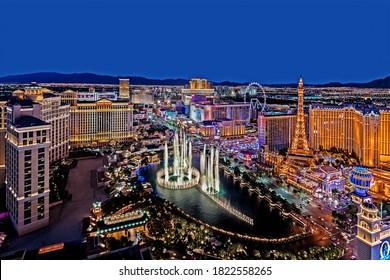 Las Vegas Nevada 2018 06 25 panoramic view of the Las Vegas Strip