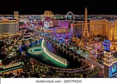 Las Vegas Nevada 2018 08 31 panoramic view of the Las Vegas Strip