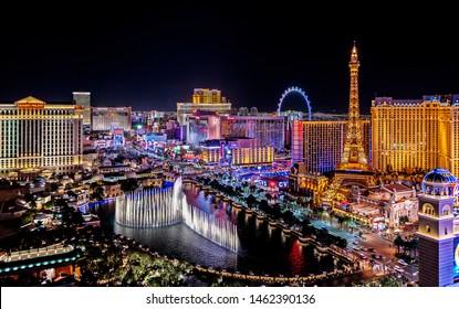 Las Vegas Nevada 2018 09 13 panoramic view of the Las Vegas Strip